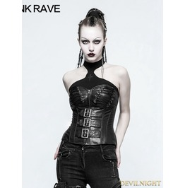 Black Gothic Punk Handsome Corset Y 773