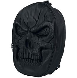 Spiral Backpack Rucksack Laptop 3 D Skull Latex Biker Goth
