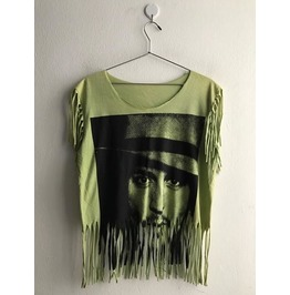 Johnny Depp Fashion Poncho Fringes Pop Rock T Shirt M
