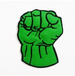 Hulk Bunches Of Fives Embroidered Iron On Patch.
