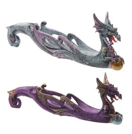 Celtic Dragon W/ Crystal Ball Incense Holder