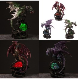 Dragon Druzy Crystal Cave Ornament W/ Led Light 3 Colors!