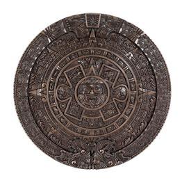 V11058 Aztec Calendar Plaque Bronze
