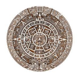 V11059 Aztec Calendar Plaque