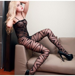Sexy Erotic Ripple One Piece Body Stocking