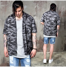 Basic Camouflage Pattern Short Sleeves Shirts 168