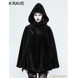 Black Gothic Witch Heavy Cloak For Women Opy 214