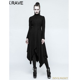 Black Gothic Witch Asymmetry Jacket For Women Opy 217