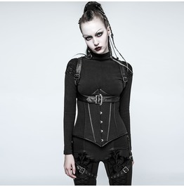 Punk Rave Women's Military Faux Leather Underbust Corsets Y767
