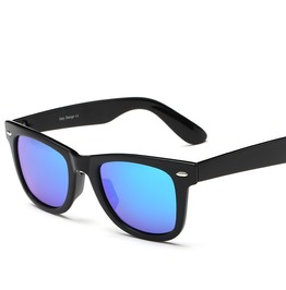 Retro Fashion Charm Polarized Mirrored Lens Unisex Reflective Uv Sunglasses