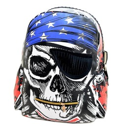 Punk Rock Pirate Skull Eye Patch Skeleton Backpack