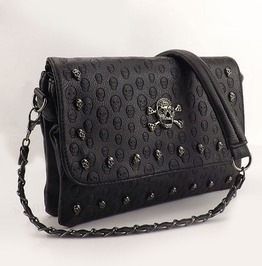 Skulls Rivet Envelope Mini Clutch Bags Punk Shoulder Bag