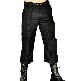 Cryoflesh Black Cargo Pants