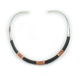 Copper Wired Leather Collar