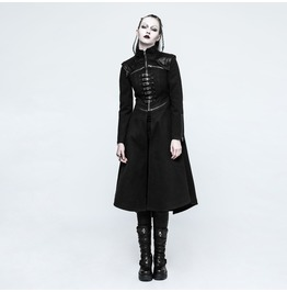 Punk Rave Women's Punk Military Style Buckles Overcoat Y777