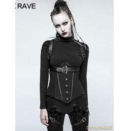 Black Gothic Military Uniform Short Coat For Women Y 767 Bk