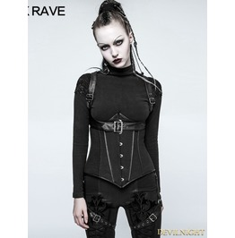 Black Gothic Swallow Tail Worsted Jacket For Women Y 771
