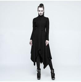 Punk Rave Women's Punk Witch Asymmetry Woolen Overcoat Opy217