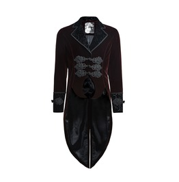 Steampunk Victorian Mens Red Elegant Jacket