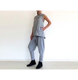 Gray Hoodie, Women Sweatshirt, Cool Hoodie, Sport Tank Blouse