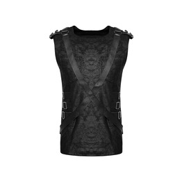 Fetish Leather Straps Sleeveless Top