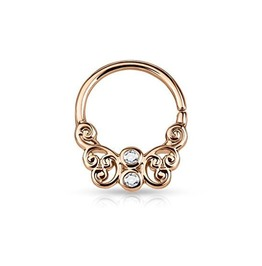 Butterfly Filigree Septum Clicker