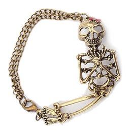 Punk Rock Goth Skeleton Skull Hand Bone Chain Bracelet Women