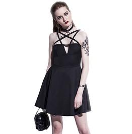 Gothic Black Pentagram Sleeveless A Line Mini Dress