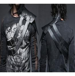 Men Gothic Vintage One Shoulder Collar Leather Wraps Stage Shoulder Armour