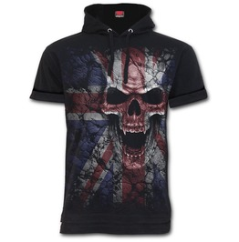 Fine Cotton T Shirt Hoody Black