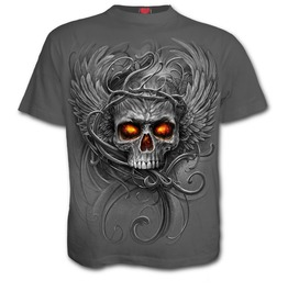 Roots Of Hell T Shirt Charcoal