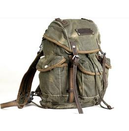 Mens Vintage Canvas Travel Backpacks Messenger Bag