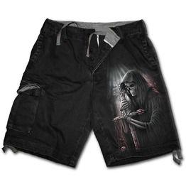 Spiral direct soul searcher vintage cargo shorts black shorts and capris
