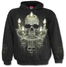 Waxed Skull Hoody Black