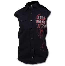 Walking Dead Ladies Sleeveless Worker Shirt
