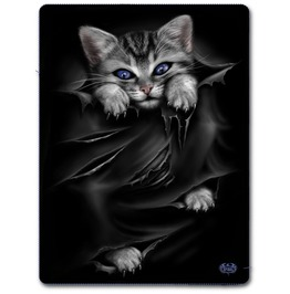 Bright Eyes Fleece Blanket With Double Sided Print