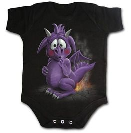 Dragon Relief Black Baby Sleep Suit