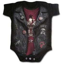 Baby Biker Baby Sleepsuit Black