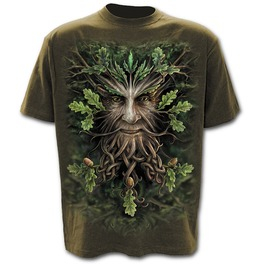 Oak King T Shirt Olive
