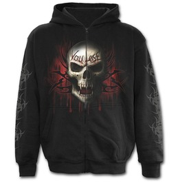 Game Over Full Zip Hoody Black