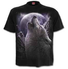 Front Print T Shirt Black