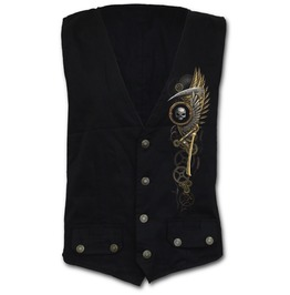 Gothic Waistcoat Four Button With Lining