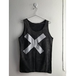 X Fashion Punk Goth Stone Wash Vest Tank Top