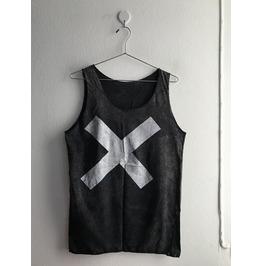 X Fashion Punk Goth Stone Wash Vest Tank Top