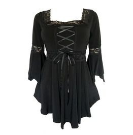 Laced Black Renaissance Top