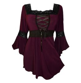 Laced Burgundy Renaissance Top