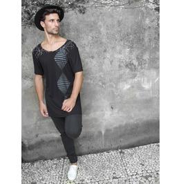 Festival Clothing, Festival Top, Men's Festival Shirt, Black Boho T Shirt
