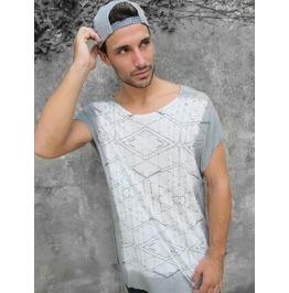 Men's Grey T Shirt, Man's Printed T Shirt, Designed T Shirt For Men