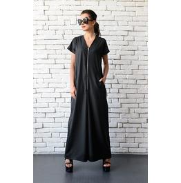 Black Maxi Jumpsuit/Oversize Loose Jumpsuit/Plus Size Overall/Jumpsuit