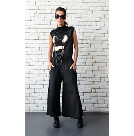 Long Loose Maxi Pants/Black Wide Leg Trousers/Casual Black Pants/Black Pant